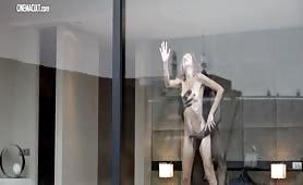 Stefania Rocca scopata allo specchio